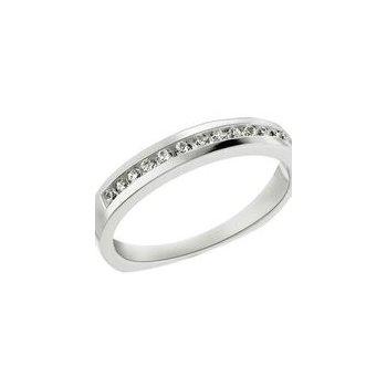 14k white gold diamond channel wedding band