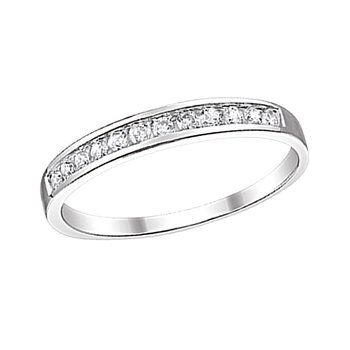 10k white gold 1/5ctw diamond channel band