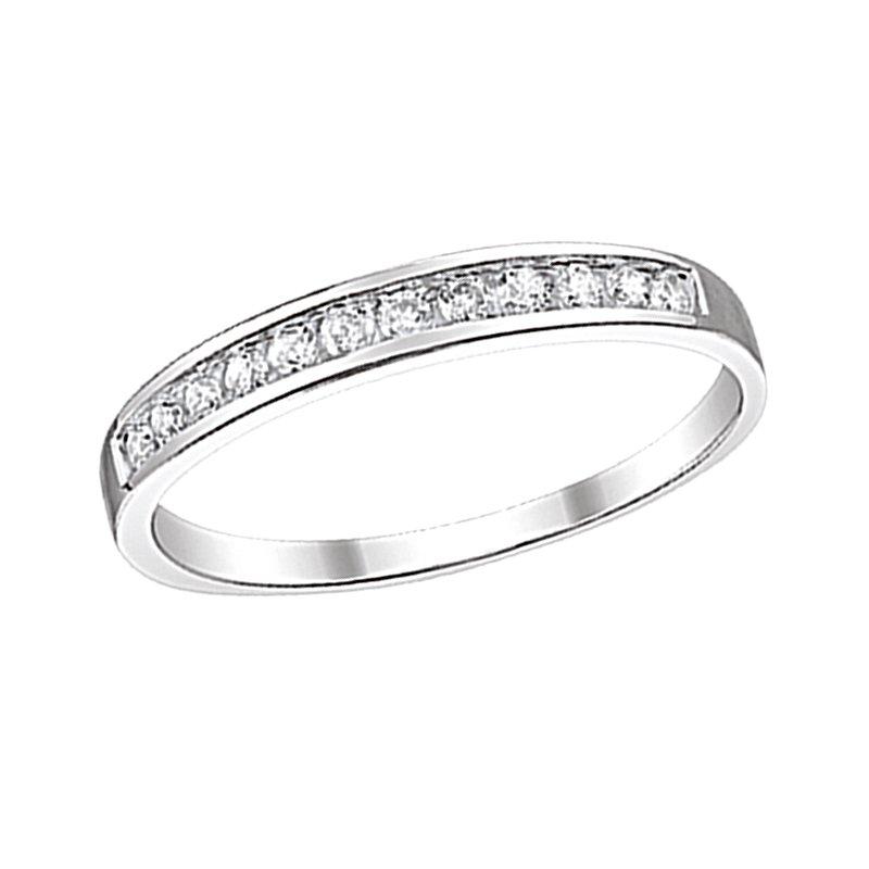 Greenberg's 10k white gold 1/5ctw diamond channel band