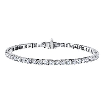14K WG 3ctw Diamond Tennis Bracelet