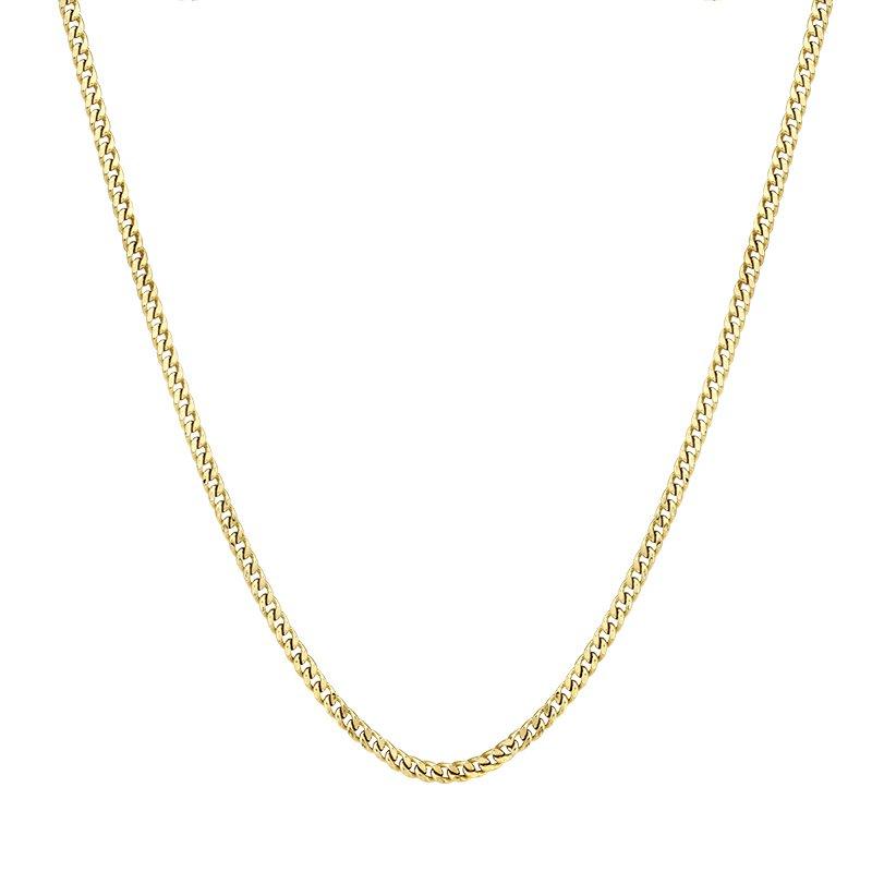 Greenberg's 10k yellow gold 26 inch. men's chain
