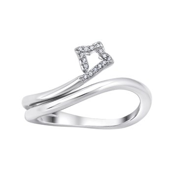 sterling silver .05ctw shooting star fashion ring
