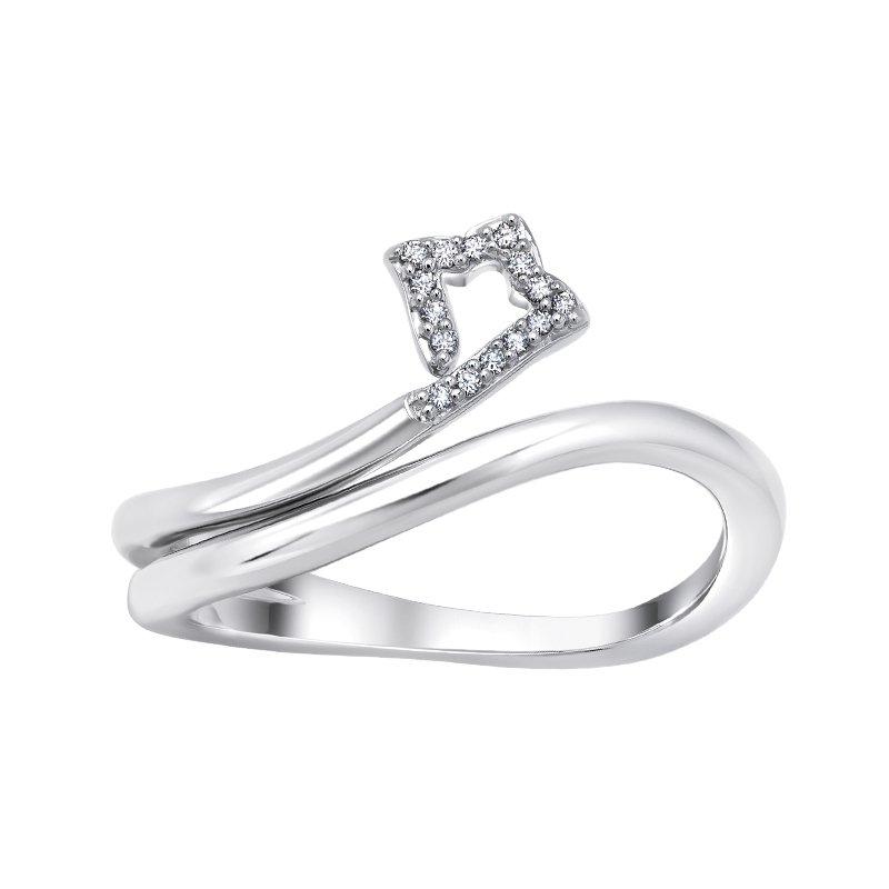 Greenberg's sterling silver .05ctw shooting star fashion ring