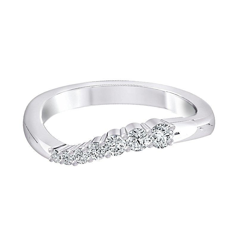 Shy Creation 14k WG 1/4ctw diamond journey ring.
