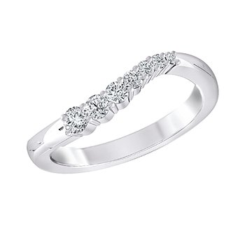 14k WG 1/4ctw diamond journey ring.