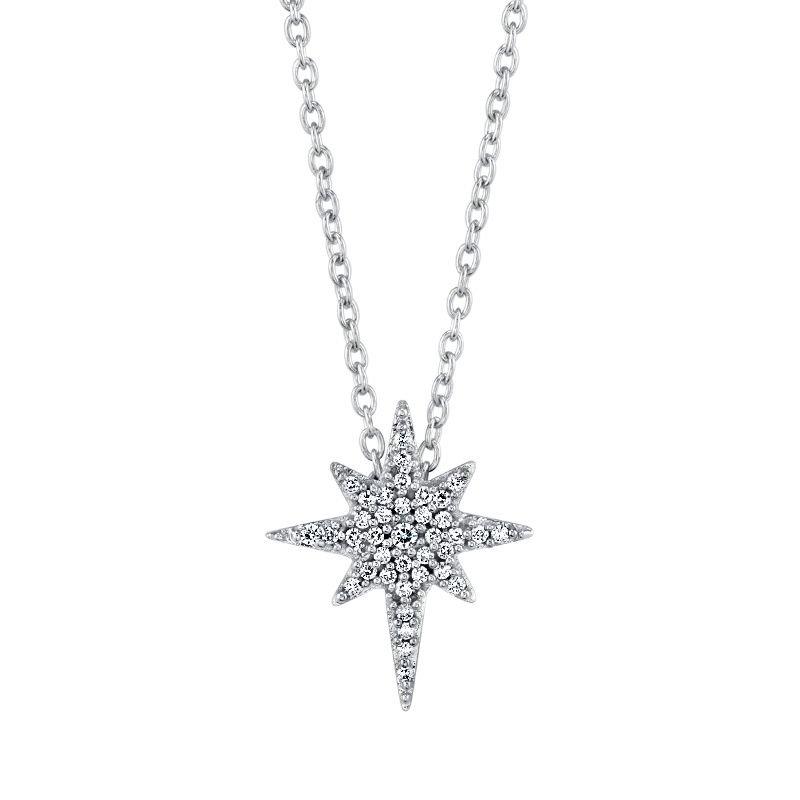 Greenberg's 10k white gold 1/8ctw love star pendant