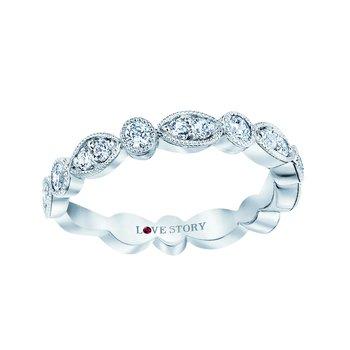 14k white gold 1/2ctw diamond wedding band