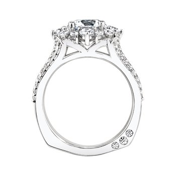 18k white gold 1-3/8ctw semi-mount engagement ring