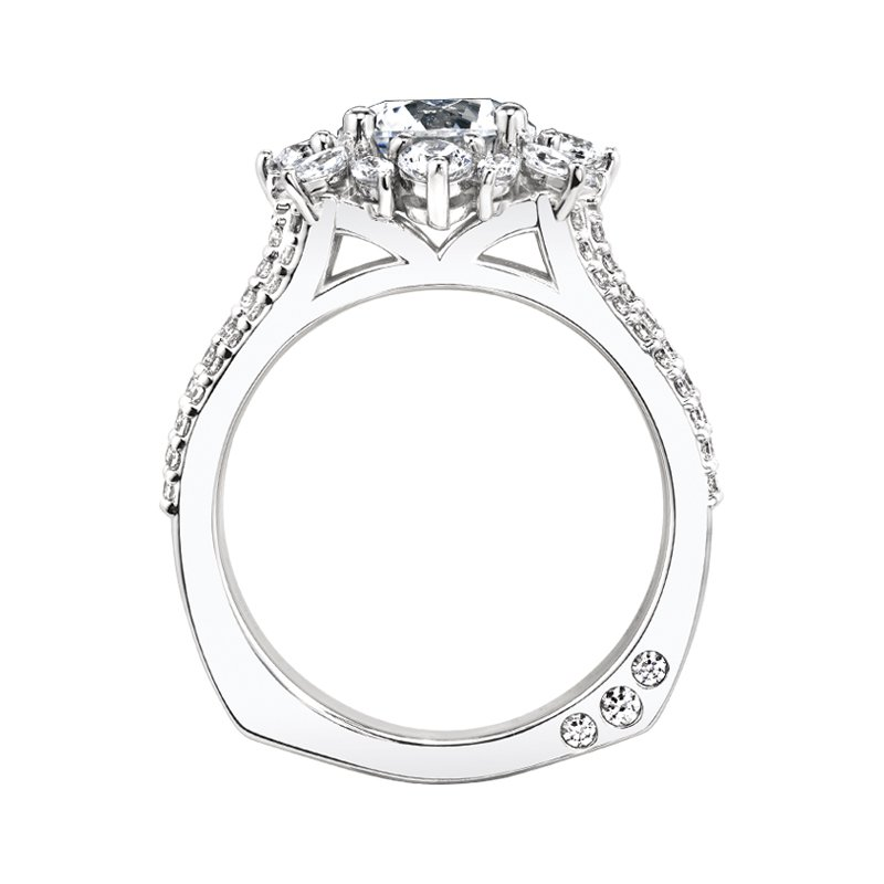 Amy Greenberg Collection 18k white gold 1-3/8ctw semi-mount engagement ring