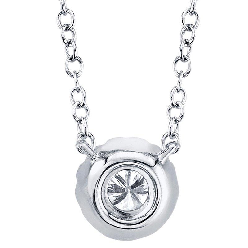 Shy Creation 0.14CT 14K W/G Diamond Necklace