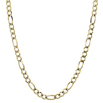 """14k yellow gold 22"""" men's figaro chain"""