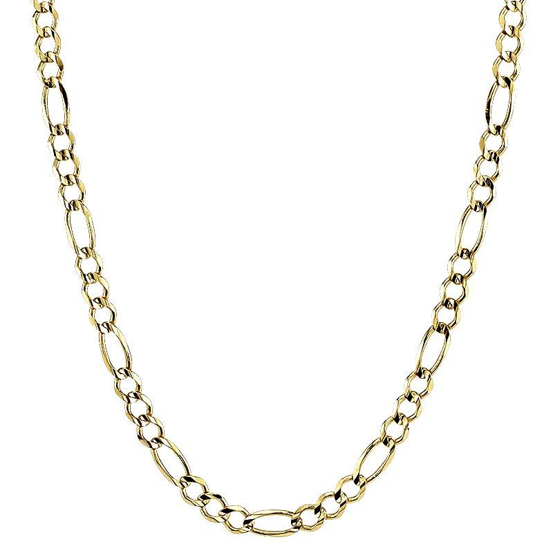"""Greenberg's 14k yellow gold 22"""" men's figaro chain"""