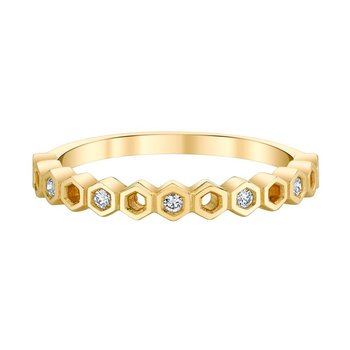 10k yellow gold diamond anniversary band