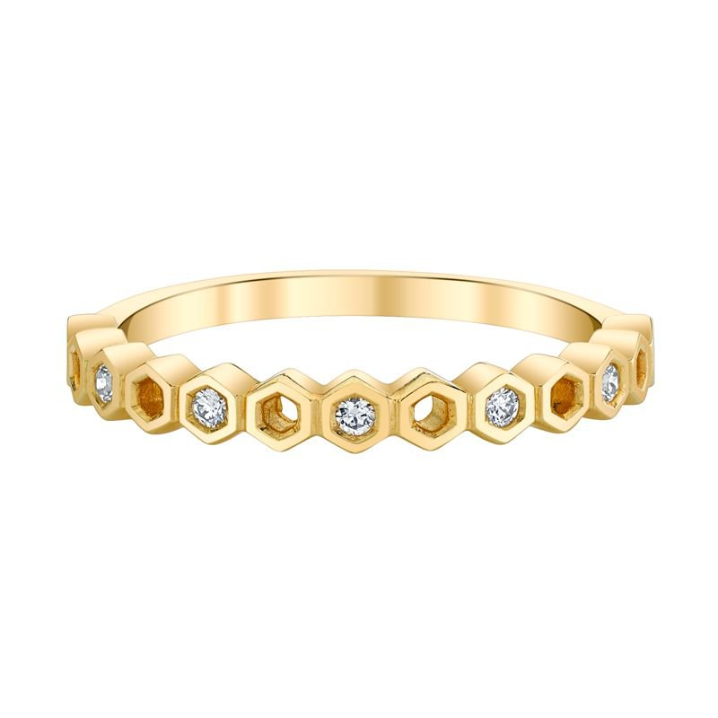 Greenberg's 10k yellow gold diamond anniversary band
