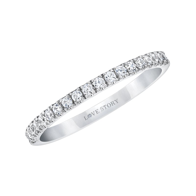 Love Story 14k white gold 1/4ctw diamond wedding band