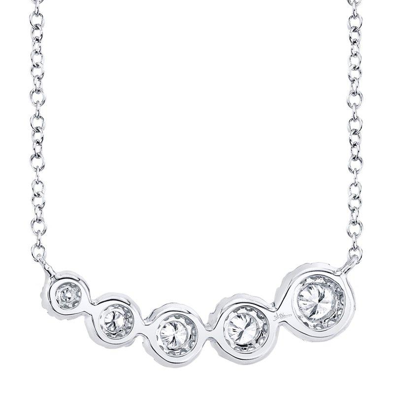 Shy Creation 0.32CT 14K W/G Diamond Necklace