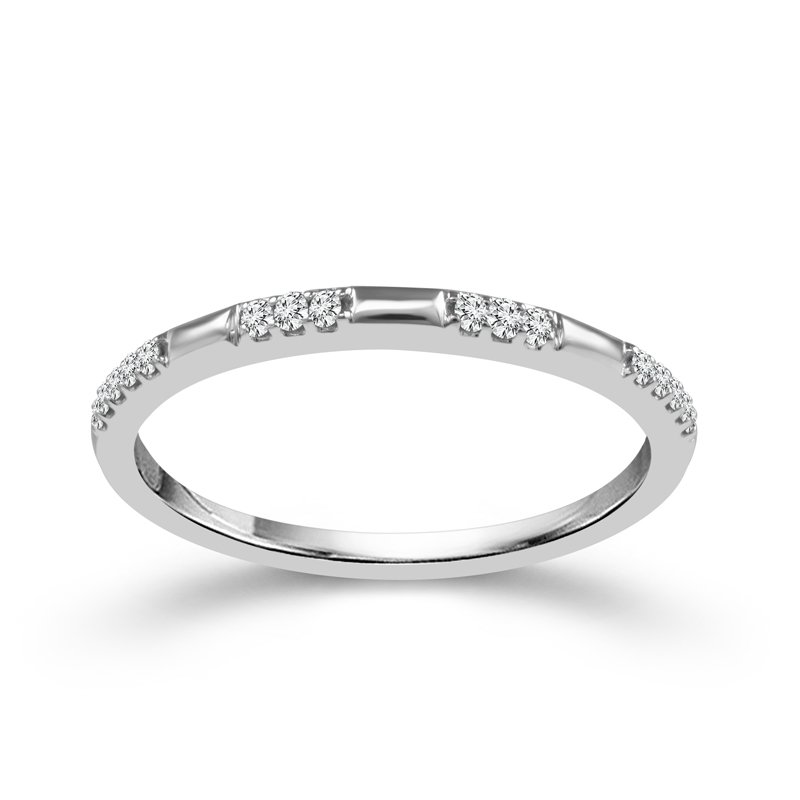 Greenberg's 10k white gold .07ctw diamond stackable band