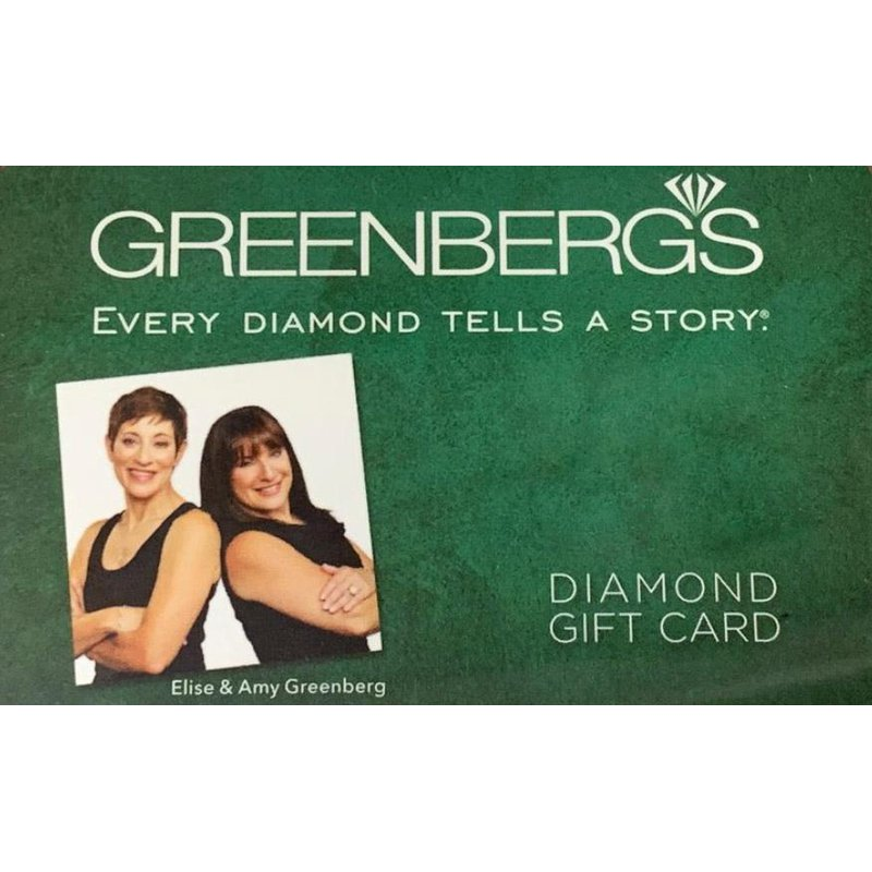 Greenberg's in-store gift card