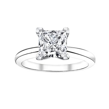 1 ct princess cut solitaire engagement ring
