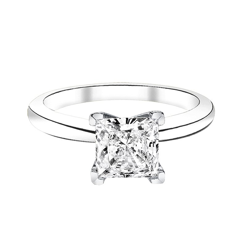 Greenberg's Solitaire Collection  1 ct princess cut solitaire engagement ring