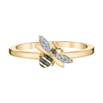 10k yellow gold honey bee ring
