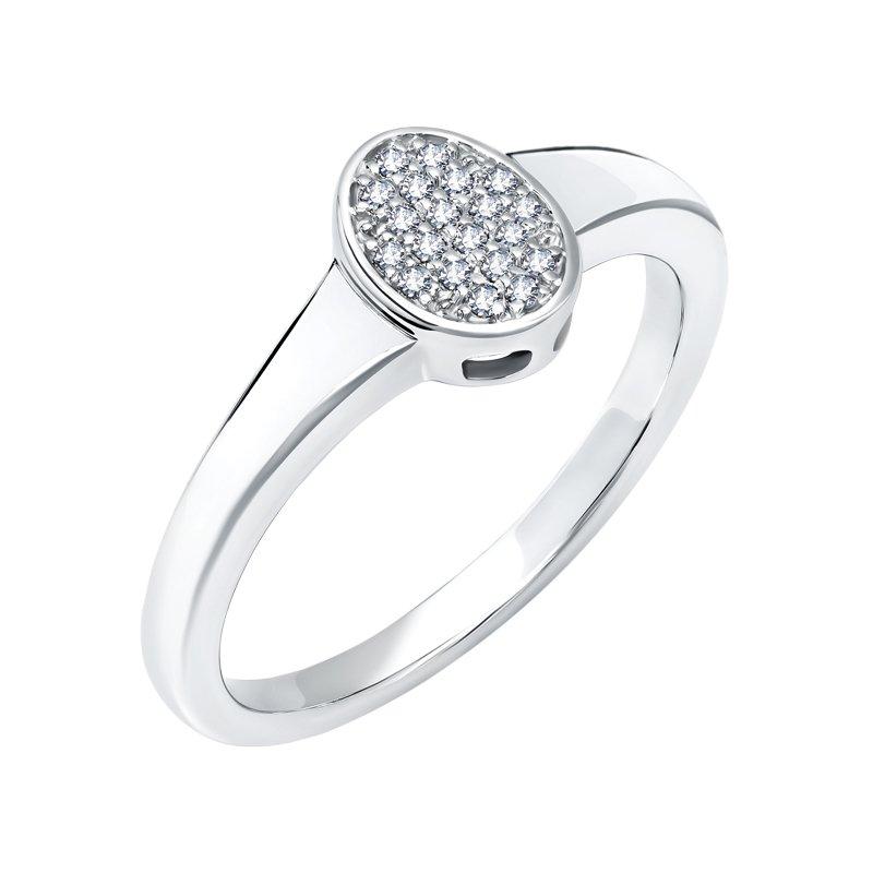 Greenberg's 10k white gold .09ctw oval ladies fashion ring