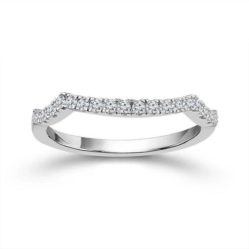 Beautiful Bride 14K WG 1.00ctw 1/4 Pear-Shaped Diamond Bridal Set Ring