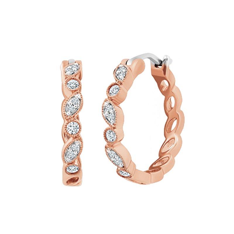 Greenberg's 14k rose gold hoop earrings