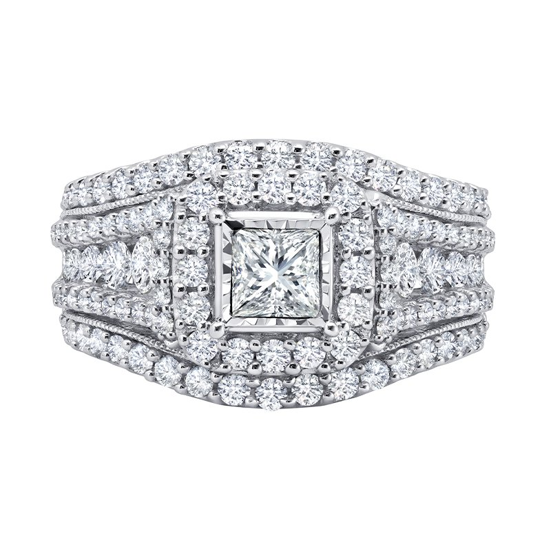 Greenberg's 14k white gold engagement ring