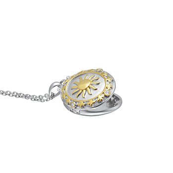 love star sterling silver with yellow micron plated sun locket