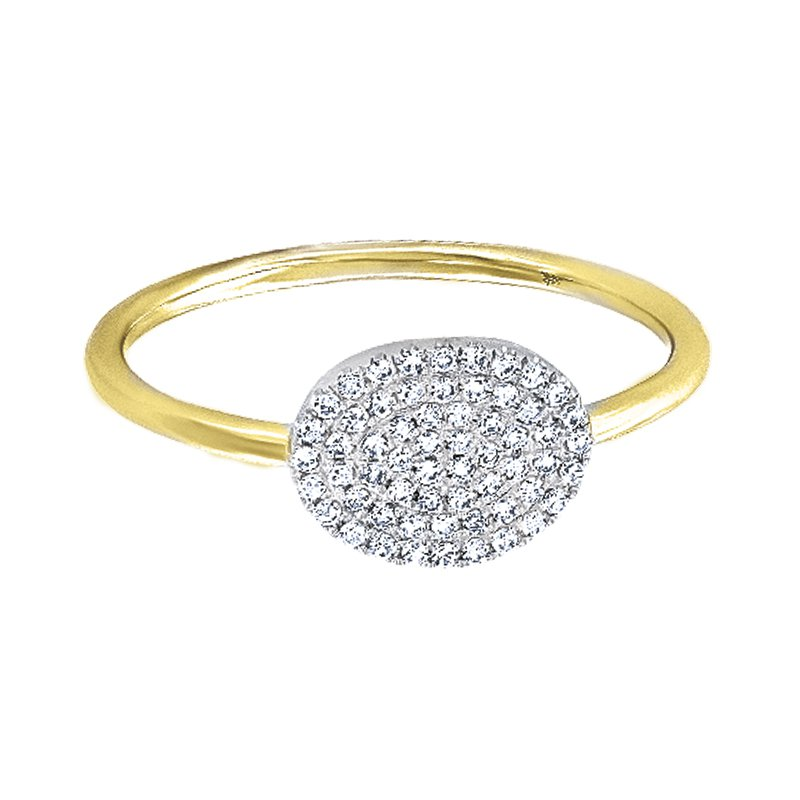 Greenberg's 14k yellow gold diamond pave ring