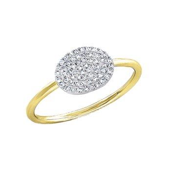 14k yellow gold diamond pave ring