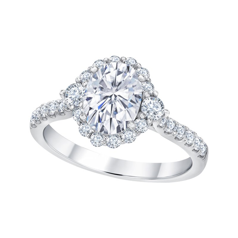 Greenberg's 14k white gold 5/8ctw semi mount engagement ring