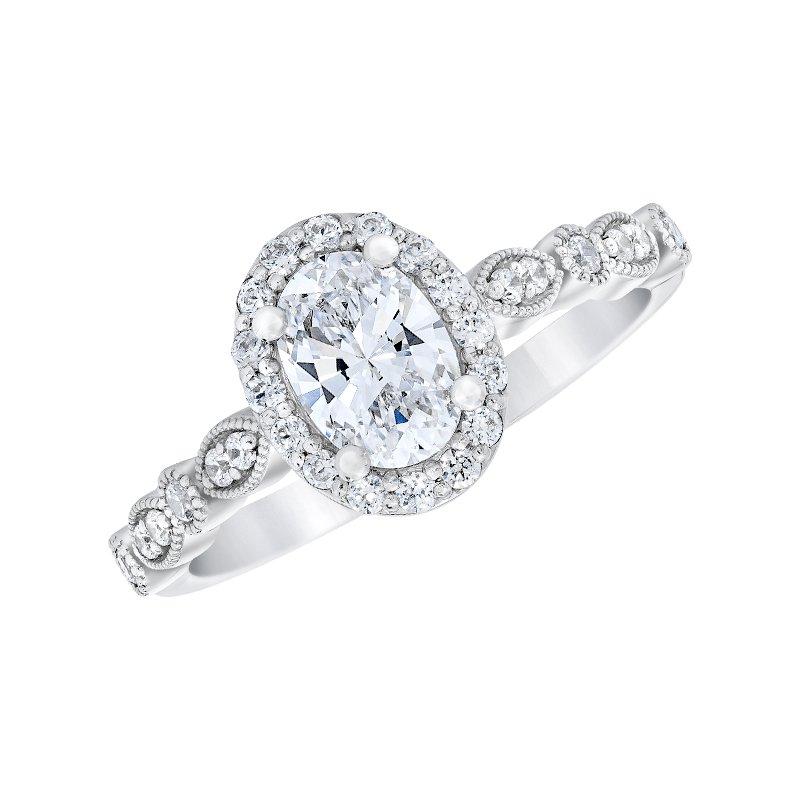 Love Story 14k white gold 1/4ctw semi mount engagement ring