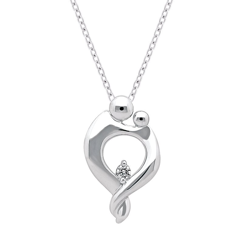 Greenberg's sterling silver mom and baby pendant