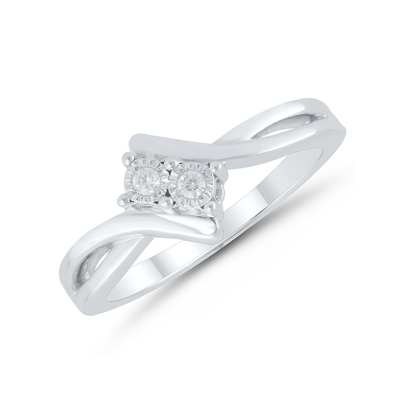 Greenberg's sterling silver two-stone reflection ring