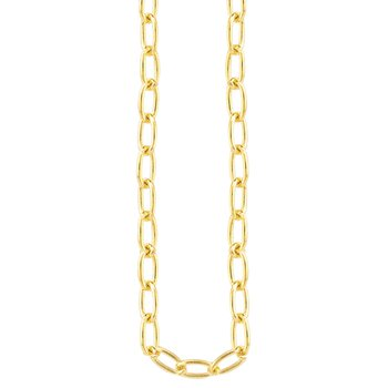 """14K YG Paperclip Long Link Fashion Necklace 20"""" 4.3g"""