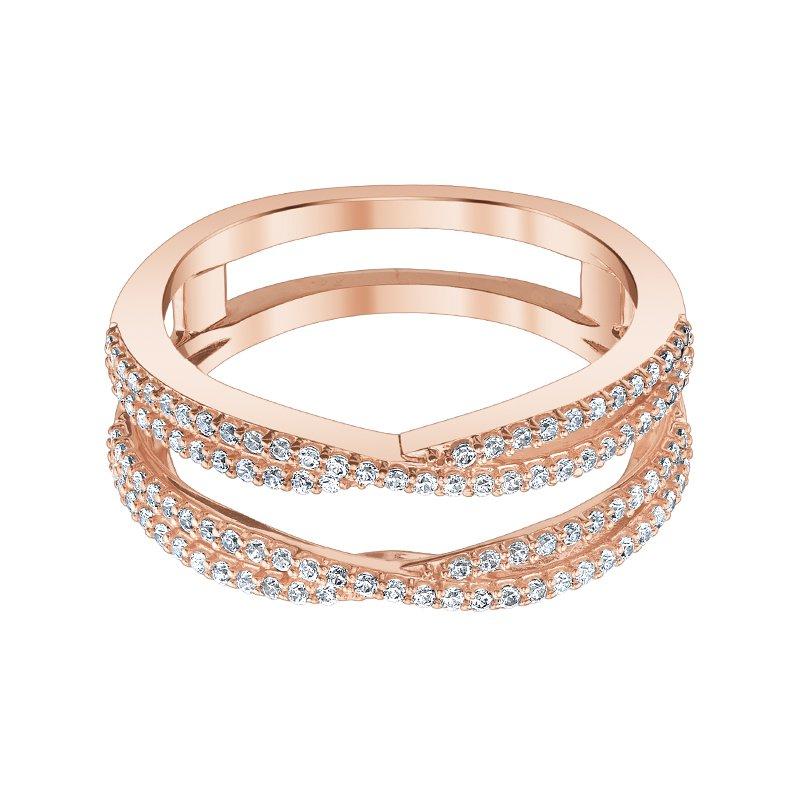 Greenberg's 14k pink gold 1/3ctw diamond ring enhancer