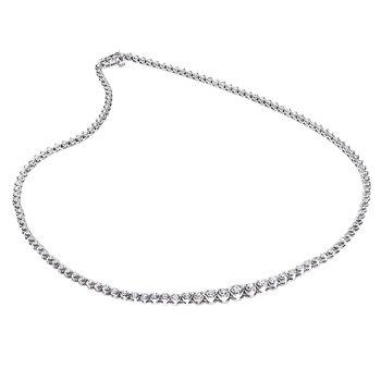 14k white gold 3-1/2ctw diamond necklace