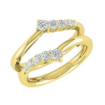 14K YG Journey 1/2ctw Diamond  Ring Insert.