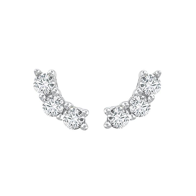 Greenberg's 14k white gold ear crawlers earrings