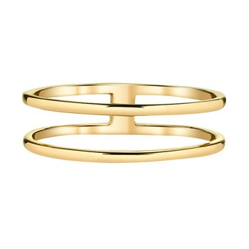 14k yellow gold double ring