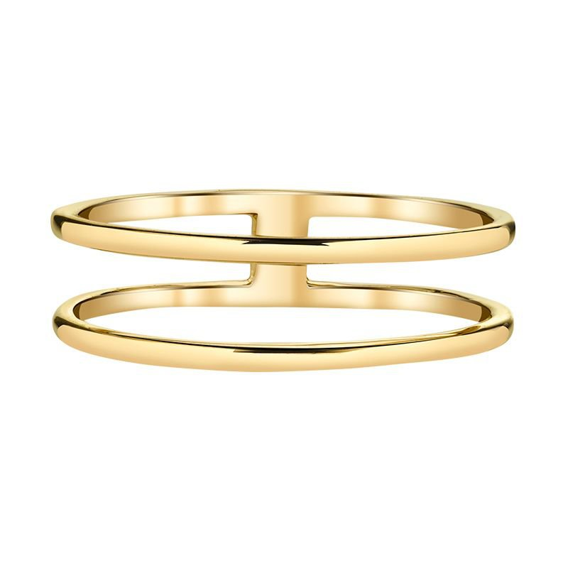 Greenberg's 14k yellow gold double ring