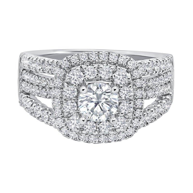 Greenberg's 14k white gold 1.04ctw diamond engagement ring
