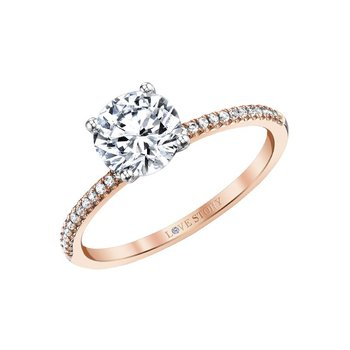 14k rose gold .10ctw semi mount engagement ring