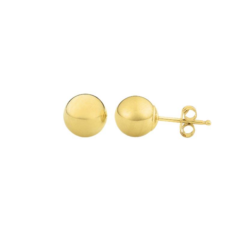 Greenberg's 14k yellow gold 6mm polished ball earrings
