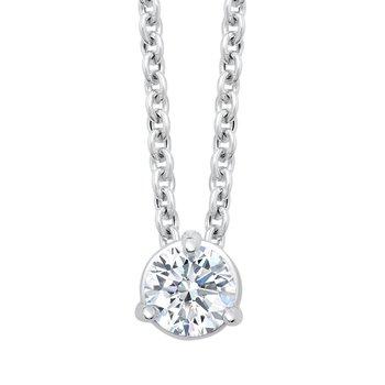 14k white gold 1/3ctw 3-prong diamond pendant
