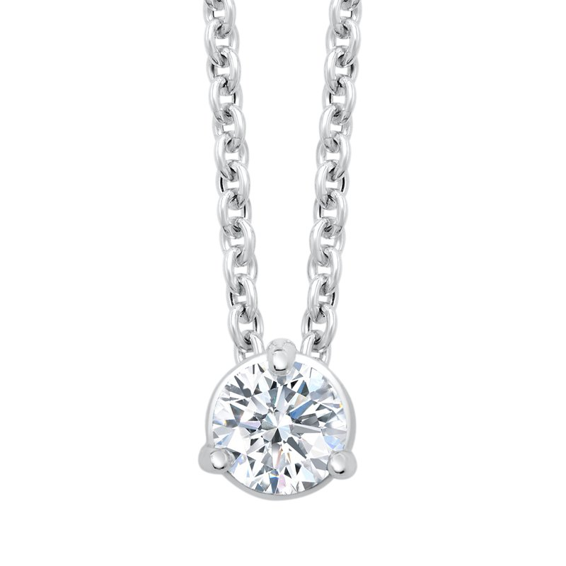 Greenberg's 14k white gold 1/3ctw 3-prong diamond pendant