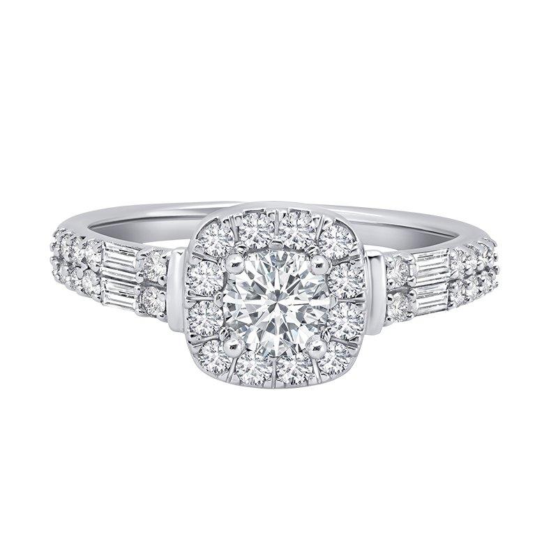Greenberg's 14k white gold 1/2ct round engagement ring