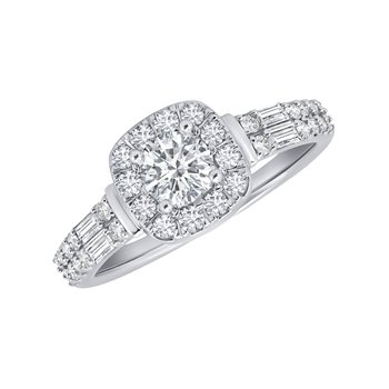 14k white gold 1/2ct round engagement ring
